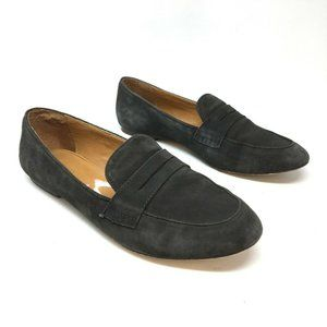 J Crew Womens Gray Charlie Suede Penny Loafers 7